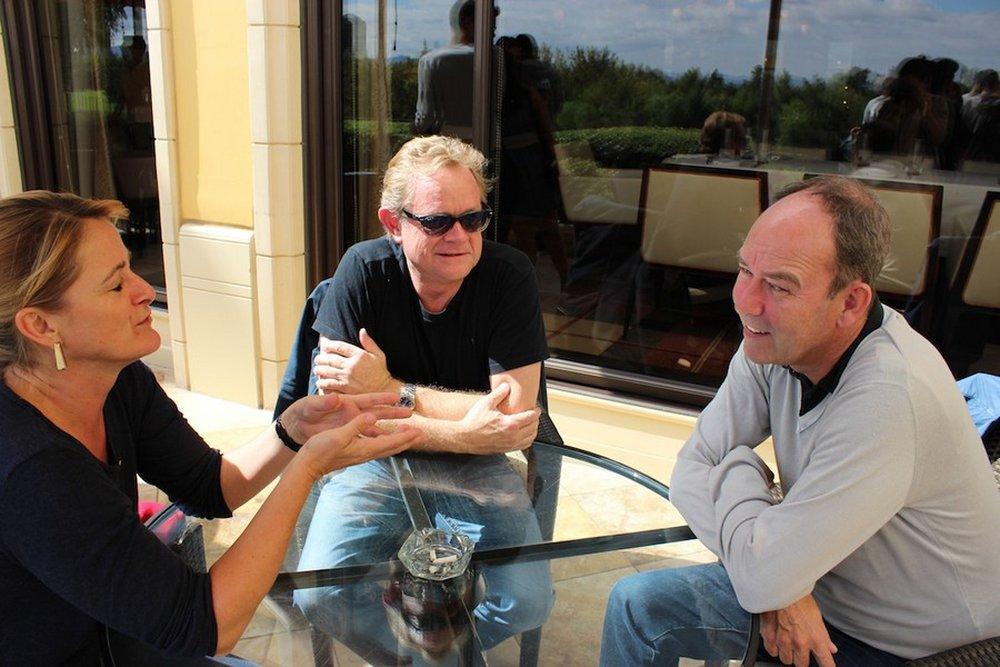 Emma Wilkie, Kim Shaw and Jeremy Craigen enjoying lunch at Country Club restaurant