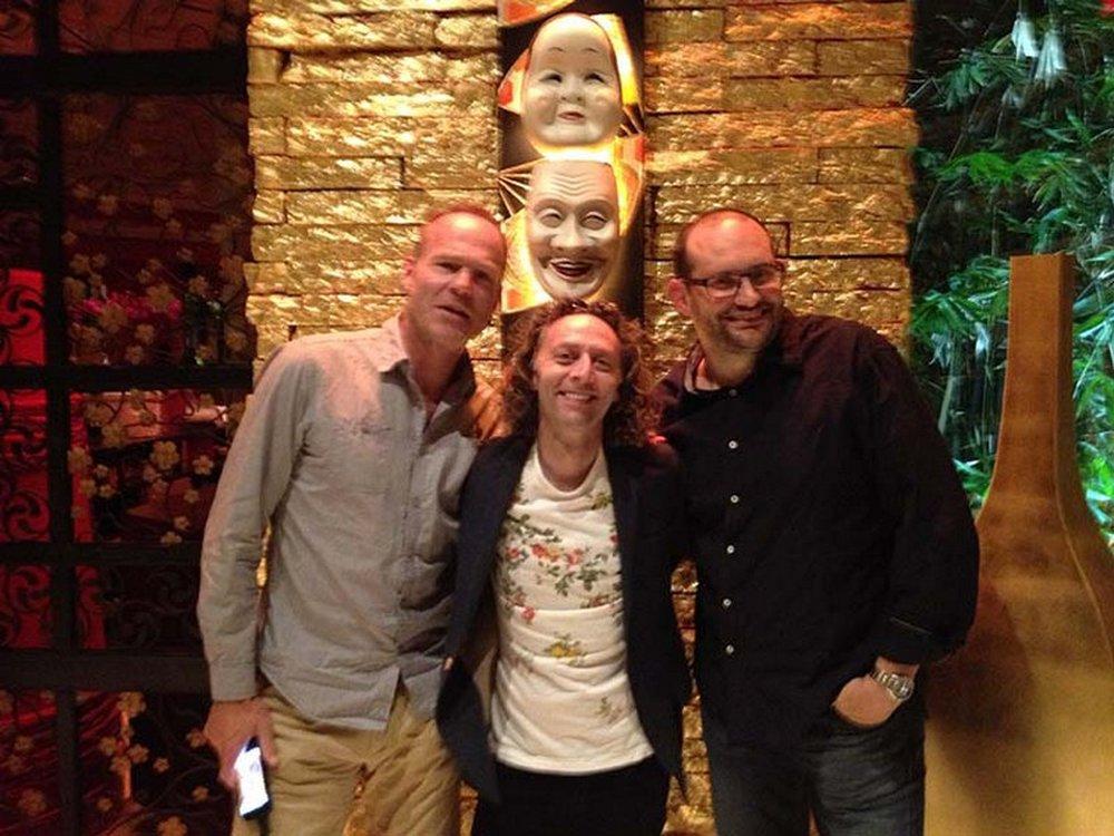 Ralph van Dijk, John Mescall and Chris Smith having a great time at Mizumi