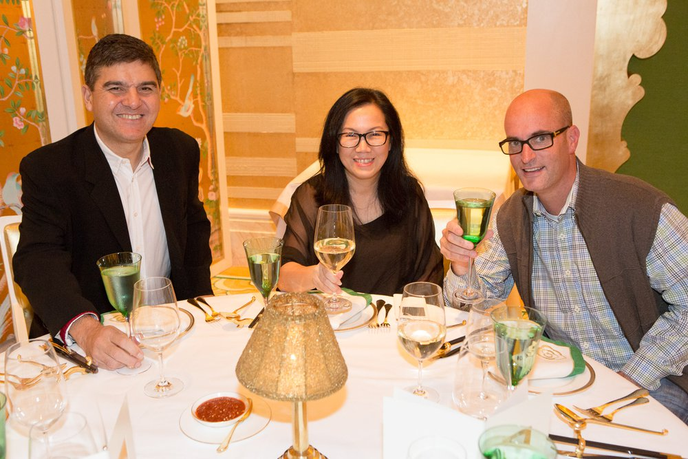 David Guerreiro, Gigi Lee, and Wade Alger at Wing Lei