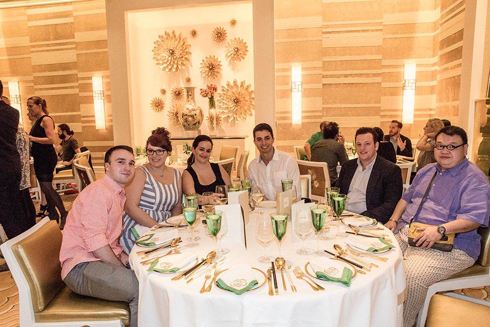 Frank Hoffman, Alisa Mangual, Brett Glatman and Gordon Tan at Wing Lei