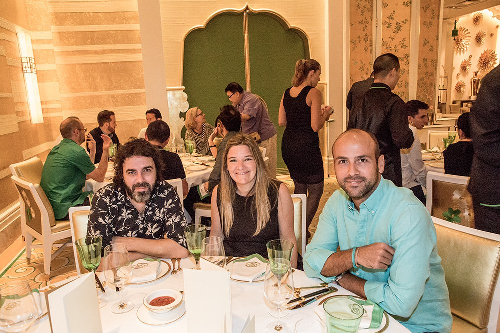 Diego Medvedocky, Marta Gonzalez, and Francisco Cassis at Wing Lei