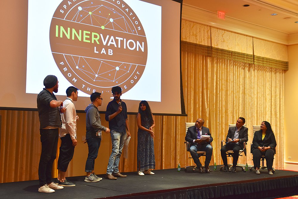 Young creative team presenting ideas at the InnerVation Lab