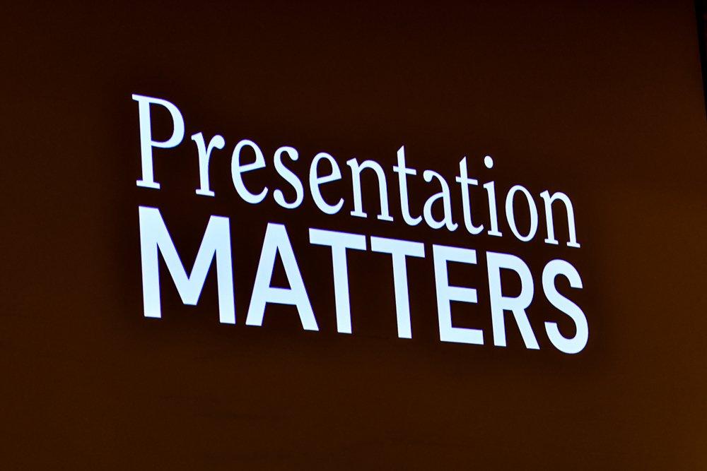 Presentation Matters - How to Present yourself talk by Matt MacDonald
