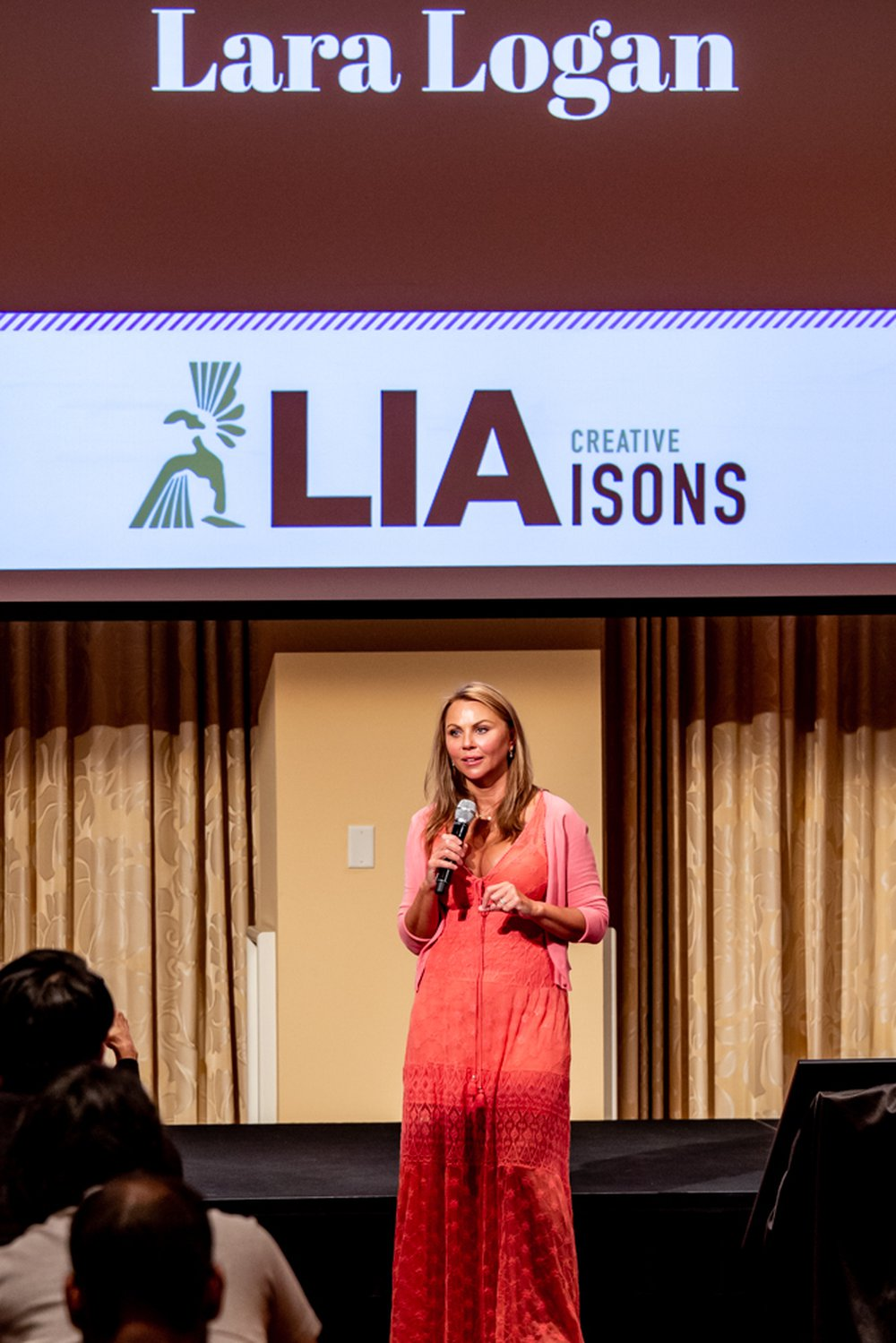 Lara Logan speaks to the Creative LIAisons