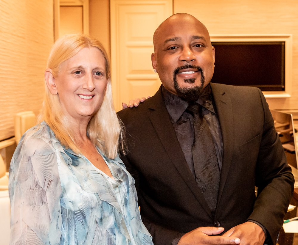 Barbara Levy with speaker Daymond John